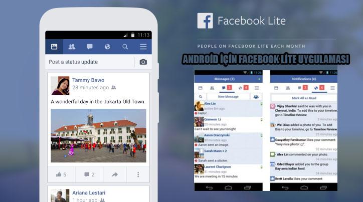 Android İçin Facebook Lite Uygulaması