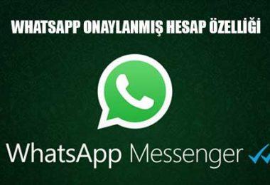 whatsapp onaylanmış hesap özelliği